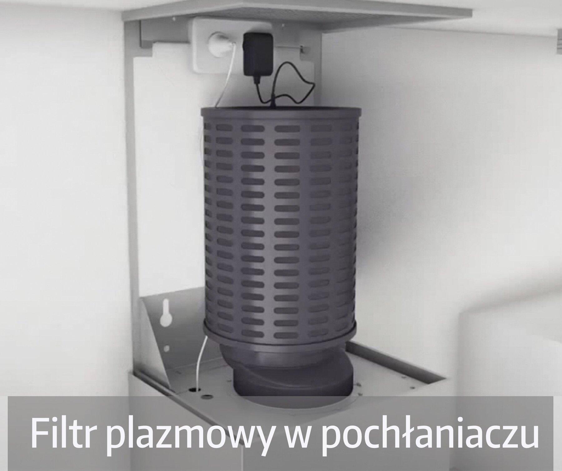 Pochłaniacz kuchenny z filtrem plazmowym