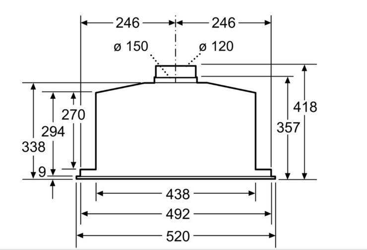 rysunek techniczny bosch dhl585b